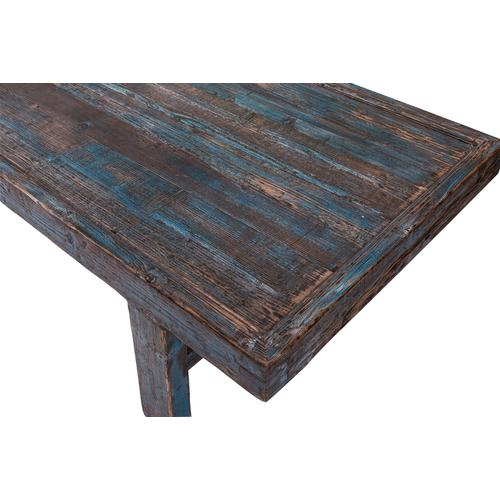 Large Wood Panel Coffee Table