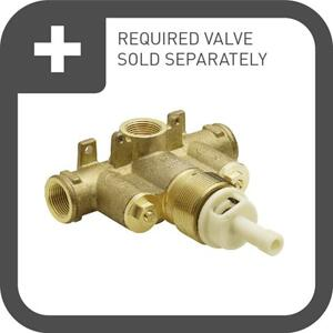 Colinet brushed nickel exacttemp® valve trim
