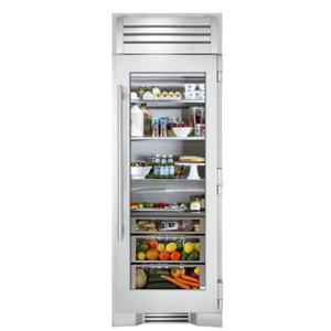 True Residential30 Inch Stainless Glass Door Right Hinge Refrigerator Column