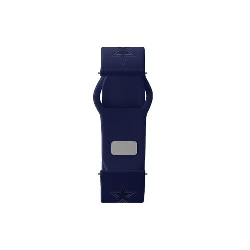 Dallas Cowboys Debossed Silicone Watch Band (20mm) Navy Blue