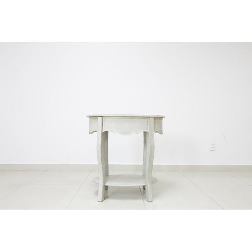 Hawthorne Estate Textured White Wash Oval Accent Table