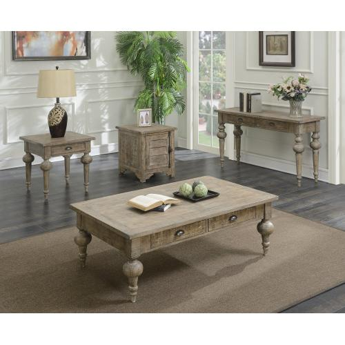 Emerald Home Interlude End Table-sandstone Finish T560-01-05