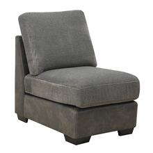 Berlin Modular Armless Chair, Gray Herringbone & Sanded Microfiber U4551-15-03
