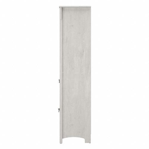 Salinas Bathroom Tall Narrow Bookcase Cabinet - Linen White Oak