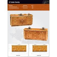 Product Image - Cedar Vanity - 6'