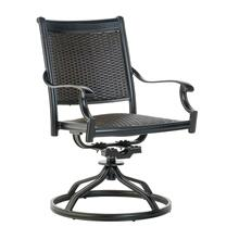 Shetland Wicker Cast Dining Swivel Rocker w/ Reticulated Foam