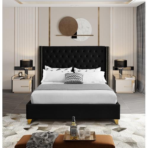 """Barolo Velvet Bed - 88"""" W x 86"""" D x 56"""" H"""