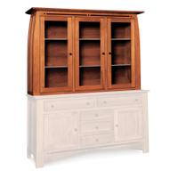 "Aspen Closed Hutch Top, 64 1/2"", Antique Glass Product Image"