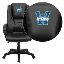 North Carolina - Wilmington Seahawks Embroidered Black Leather Executive Office Chair