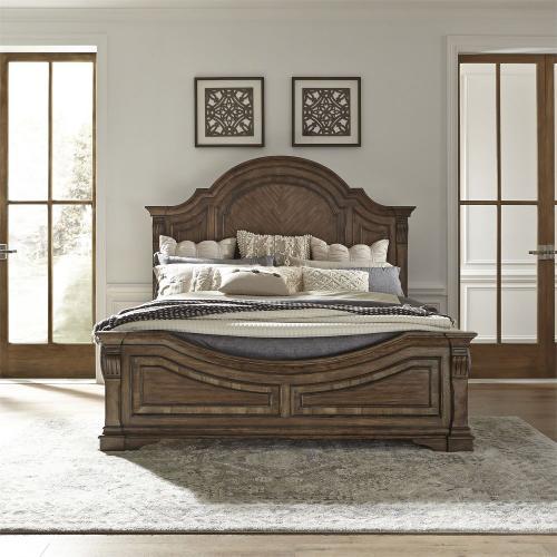 Queen Panel Bed, Dresser & Mirror, Night Stand