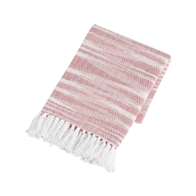 Red Ombre Chevron Throw