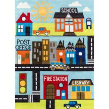 Lil Mo Whimsy Town Scene Lmj-12 Town - 2.0 x 3.0