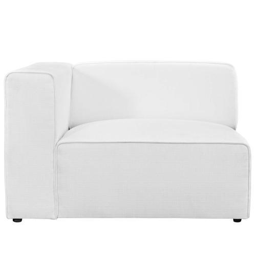 Mingle Fabric Left-Facing Sofa in White
