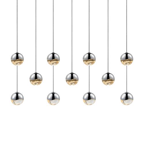 Grapes® 11-Light Rectangle Small LED Pendant