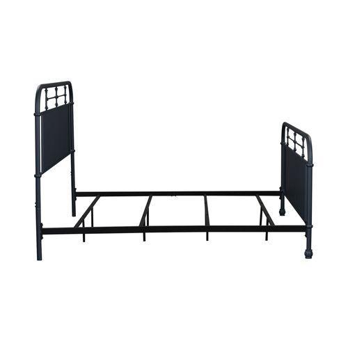 Liberty Furniture Industries - King Metal Bed- Navy