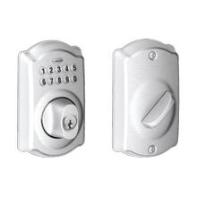 View Product - Camelot trim Keypad Deadbolt - Bright Chrome
