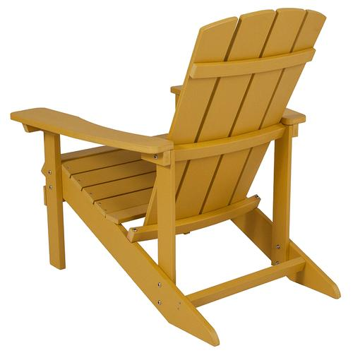 Flash Furniture - Charlestown All-Weather Poly Resin Wood Adirondack Chair in Yellow