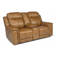 See Details - Kingsley Power Reclining Loveseat with Console and Power Headrests and Lumbar