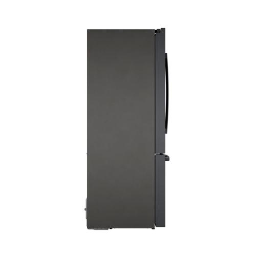 800 Series French Door Bottom Mount 36'' Black stainless steel B36CT80SNB