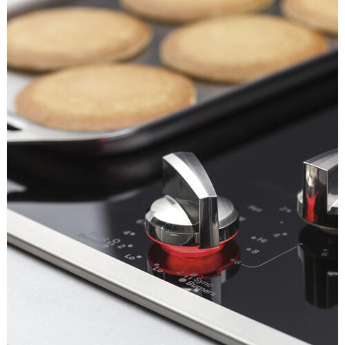 """GE Profile 36"""" Electric Smoothtop Cooktop Stainless Steel PP7036SJSS"""