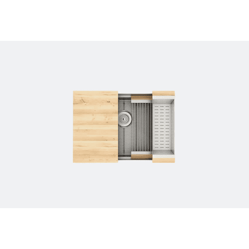 "SmartStation® 005401 - undermount stainless steel Kitchen sink , 27"" × 18 1/8"" × 10"" (Maple)"