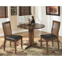 Round Drop Leaf Table and 2 Chairs
