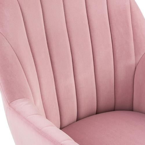 Channeled Back Office Chair in Blush