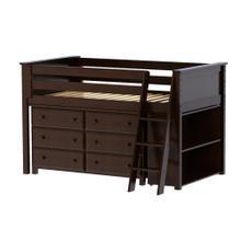 Twin Loft   Dresser   Bookcase Espresso