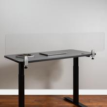 "Clear Acrylic Desk Partition, 12""H x 60""L (Hardware Included)"