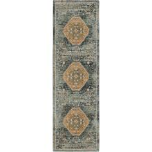 "Touchstone Suir Blue Teal 2' 4""x7' 10"" Runner"