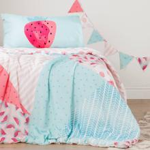 Watermelons and Dots Comforter and Pillowcase - Pink and Turquoise