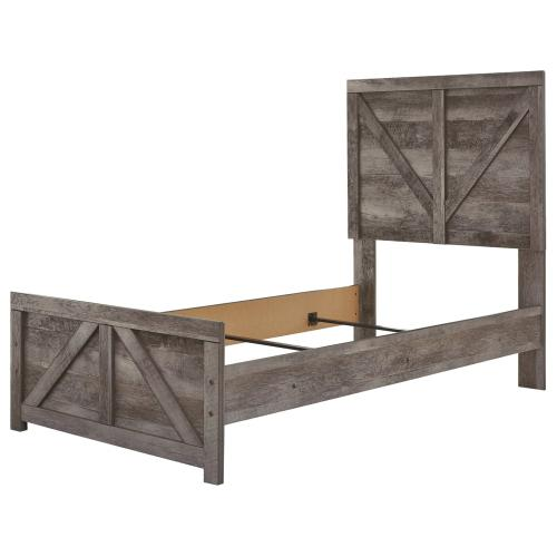 Wynnlow Twin Crossbuck Panel Bed