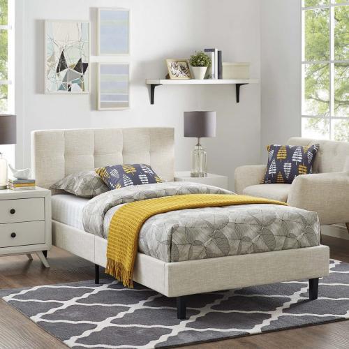 Linnea Twin Bed in Beige