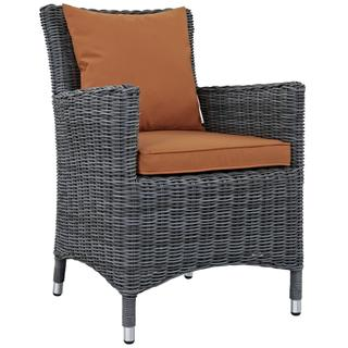 Summon Dining Outdoor Patio Sunbrella® Armchair in Canvas Tuscan