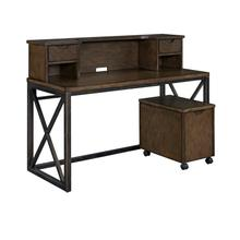 Xcel Desk With Hutch and File Cabinet