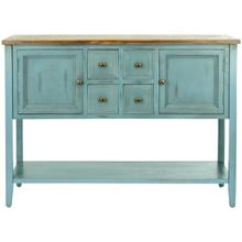 See Details - Charlotte Storage Sideboard - Blue / Oak