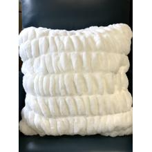 """See Details - Nuevo Faux Fur Pillow White by Rug Factory Plus - 20"""" x 20"""" / White"""