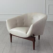 Mimi Chair-Light Grey Marbled Leather