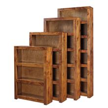 "74"" Fruitwood Bookcase"