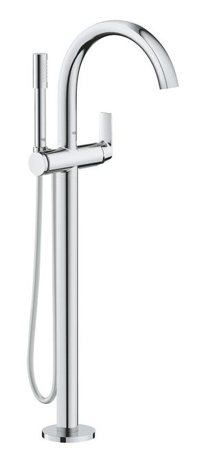 Defined Single-Lever Bathtub Faucet, Floor Mounted Product Image