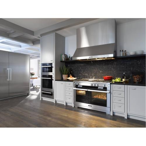 Wall ventilation hood for perfect combination with Ranges and Rangetops.