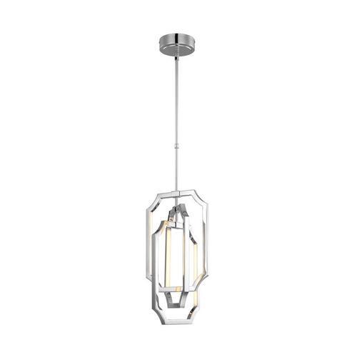 Audrie Medium LED Pendant Polished Nickel Bulbs Inc