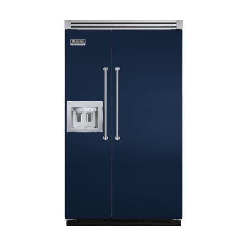 "Viking - Viking Blue 48"" Quiet Cool™ Side-by-Side with dispenser - VISB Tru-Flush™ (48"" wide)"