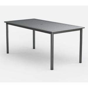 """44"""" x 87"""" Rectangular Bar Table (with Hole) Ht: 40.25"""" Post Aluminum Base (Model # Includes Both Top & Base)"""