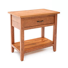 Denver 1 Drawer Nightstand - Solid Cherry Wood