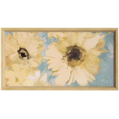 Style Craft - SUNFLOWER PANEL  51in w X 28in ht  Textured Framed Print  Made in USA
