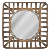 Basket Frame Wall Mirror