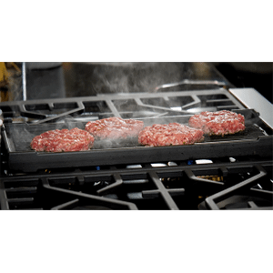 Forzacucina - Double-Sided Cast Iron Griddle + Grill Plate
