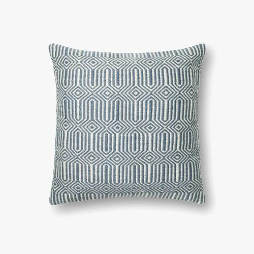 P0339 In/out Blue / Ivory Pillow