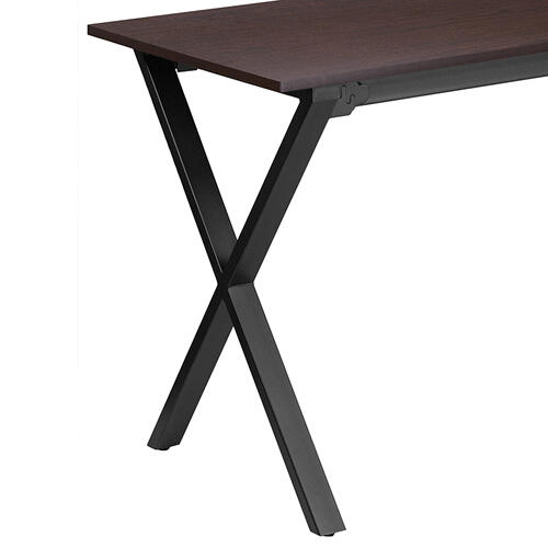 Flash Furniture - 47.5''W x 23.75''D Walnut Computer Desk with Black Metal Frame
